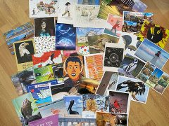 A selection of the postcards received by Heather in January 2021