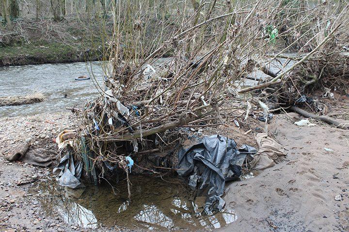 River Darwen rubbish Pic: Jonathan Hartley