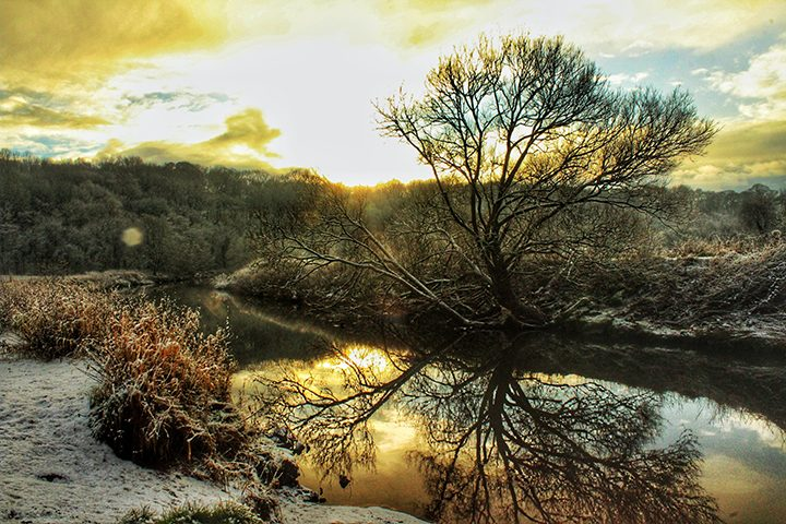 River Darwen upstream from the weir and fish ladder Pic: Jonathan Hartley