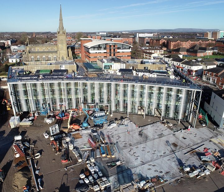 Another view of the new student centre at Adelphi Square Pic: UCLan