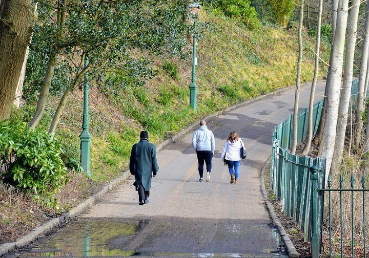 Walking in Avenham Park Pic: Tony Worrall