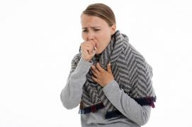 A woman coughing Pic: Pixabay