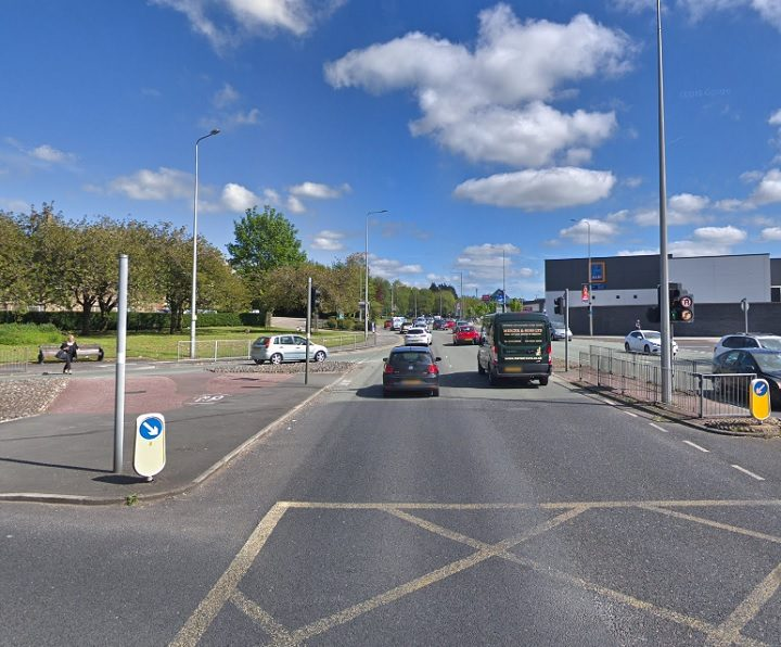 The crash took place close to the Queen Street retail park Pic: Google