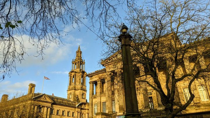 The Harris and looking towards the Town Hall in Preston city centre Pic: Tony Worrall