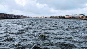 Choppy waters at Preston Docks Pic: Tony Worrall