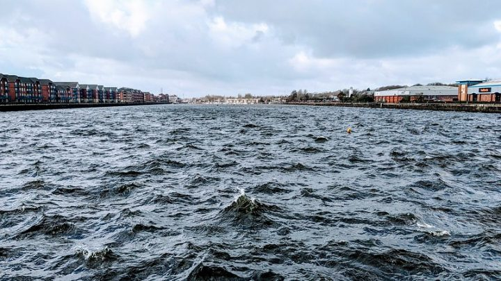 Choppy waters at Preston Docks Pic: Tony Worrall