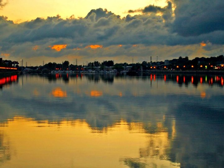 Clouds and sunset at Preston Docks Pic: Tony Worrall