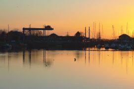Sunset over Preston Marina on Thursday 18 March Pic: Tony Worrall
