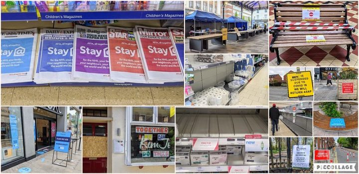 A selection of pictures from Preston photographer Tony Worrall showing the city in lockdown Pic: Tony Worrall