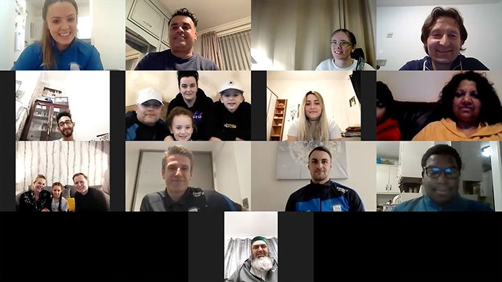 Bauer Riis join the latest Communities United meeting via Zoom