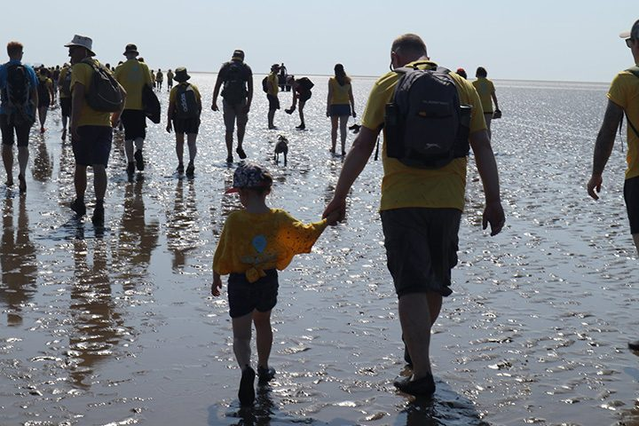 Galloway's fundraisers take on the Morecambe Bay Walk in 2019