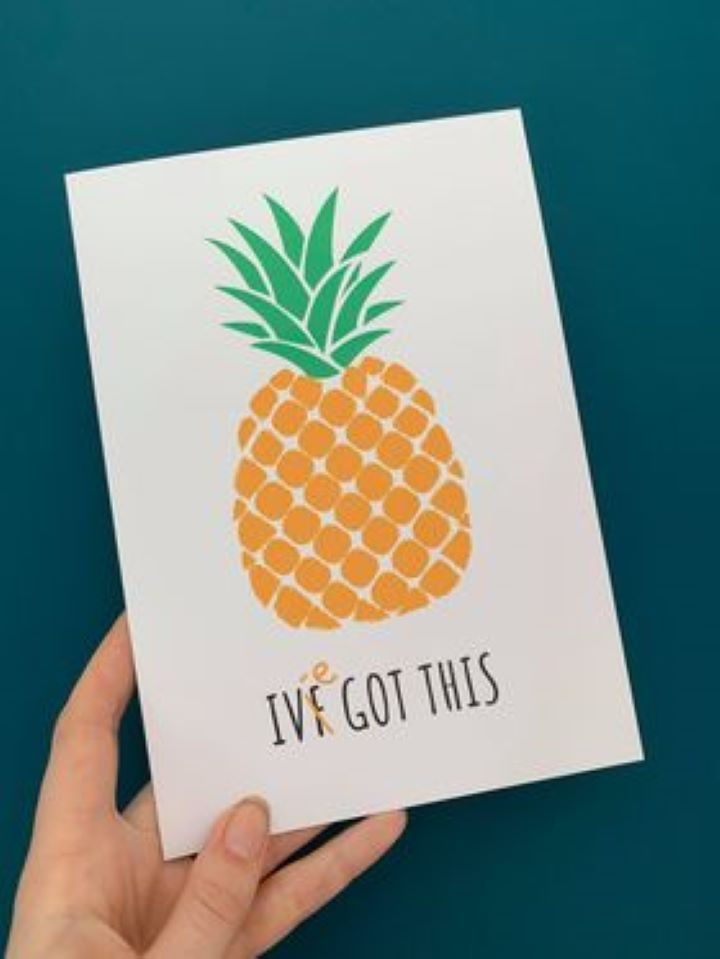 One of the cards Laura sells; Reads IVF got this..