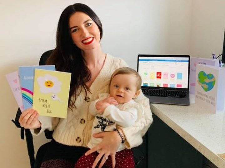 Laura Lonsdale and baby Penelope