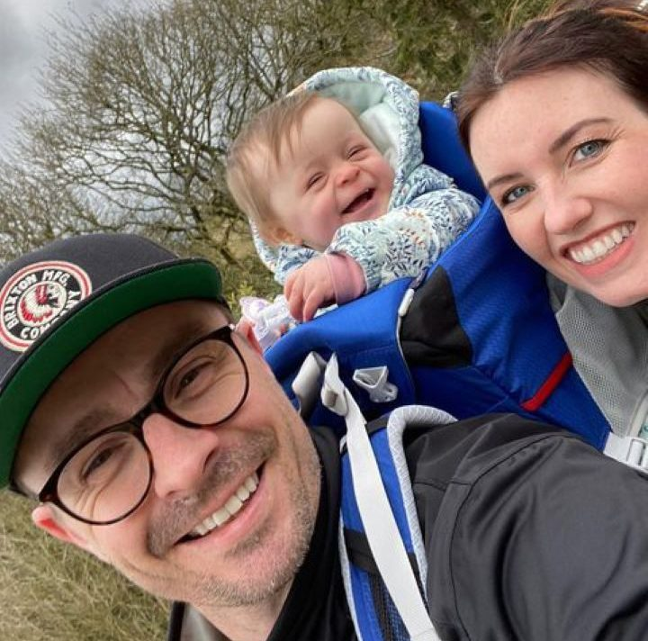 Laura Lonsdale with her family