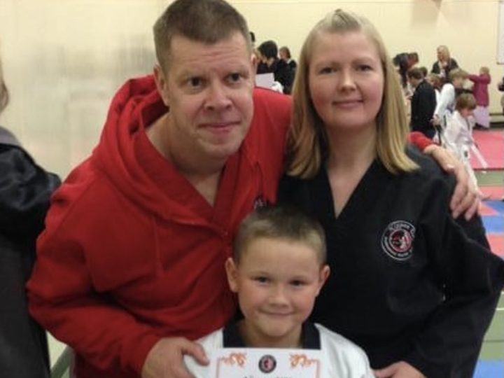 Peter and Katheryne at a grading event with their great nephew
