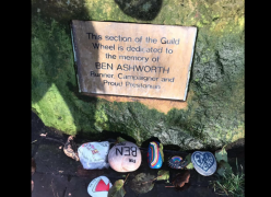 Ben Ashworth's memorial. Pic: Louise Harlow