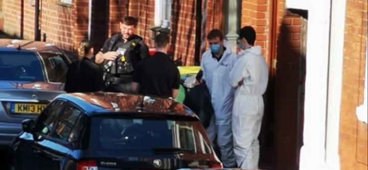 Police raid address. Pic: Crispin Robinson