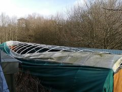 The polytunnel has been ripped in the recent strong winds
