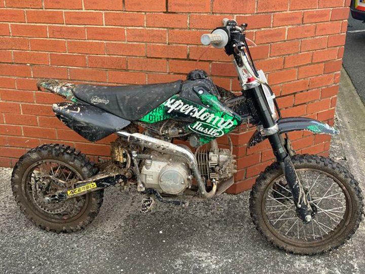 The bike was seized in the Walker Lane area Pic: Preston Police