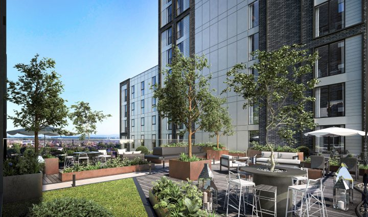 Outside rooftop area. Pic: Heaton Group.