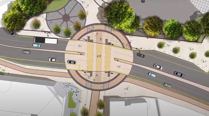 Aerial view of the new Ringway and Friargate junction Pic: Lancashire County Council