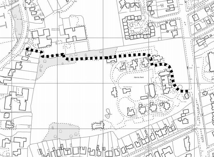 The right of way would run from Garstang Road, on the right, to Black Bull Lane, on the left Pic: Friends of Harris Park