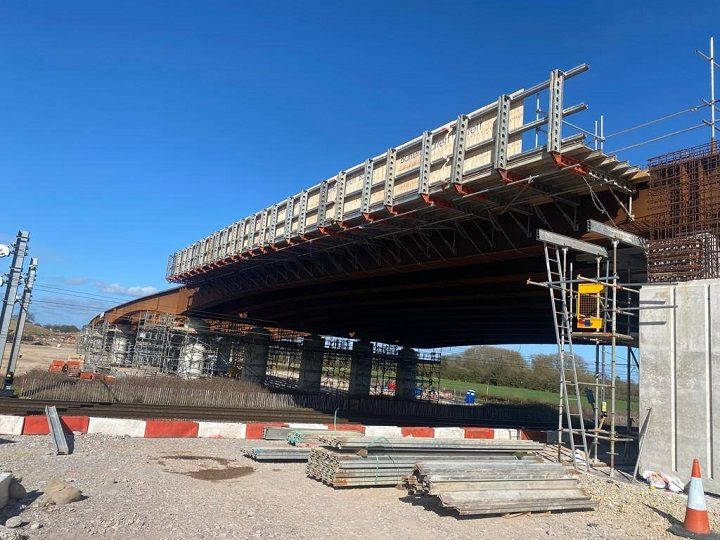 The Lea viaduct going into place for the Preston Western Distributor Pic: LCC