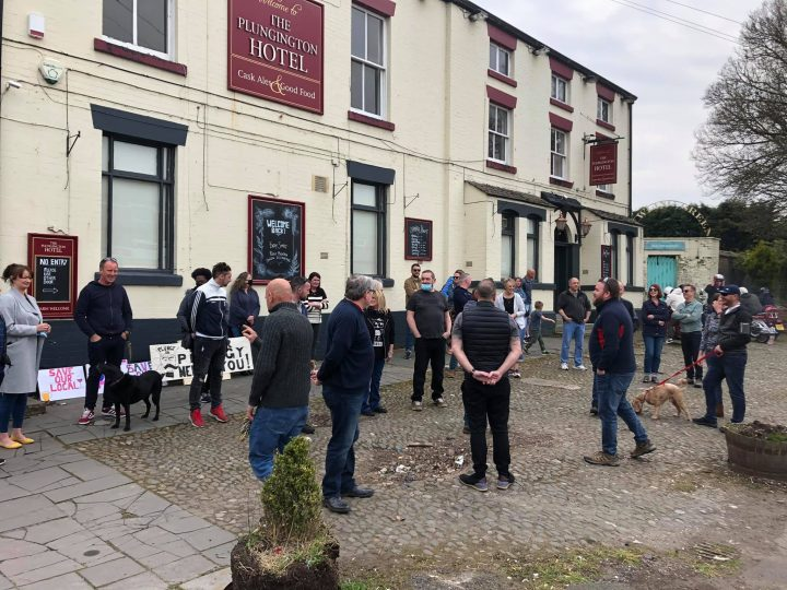 Member of the 'Can we keep The Plunginton Hotel open?' group. Pic: Allan Plumb