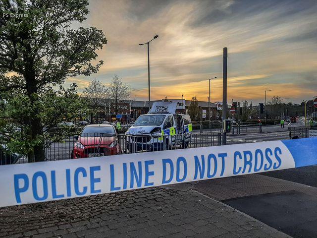 Damage to the British Transport Police van following the London Road crash Pic: Shane King