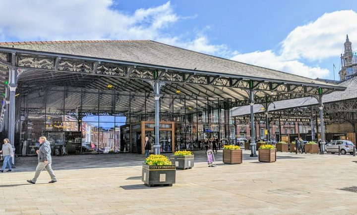 Preston's Market Hall bathed in Spring sunshine Pic: Tony Worrall