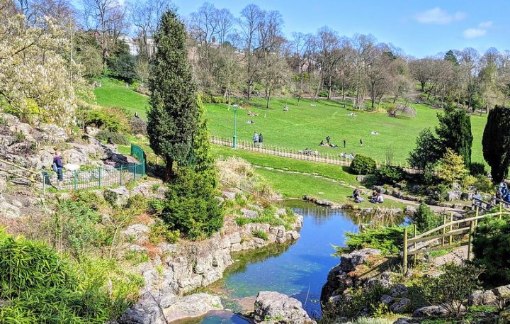 Sunshine in Avenham and Miller Park during Tuesday 13 April Pic: Tony Worrall