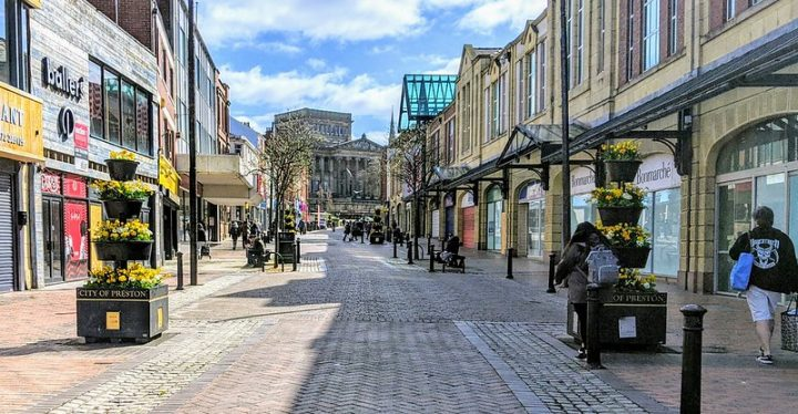 Springtime in Friargate looking towards the Harris Pic: Tony Worrall