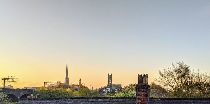 Morning sky over Preston on Monday 26 April Pic: Tony Worrall