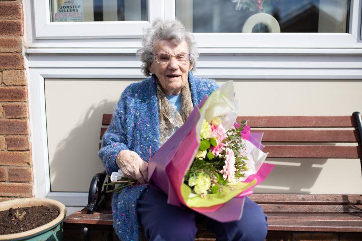 Alice Slater on her 100th birthday