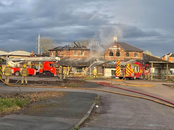 Baffito's fire Pic: Ross Wallis