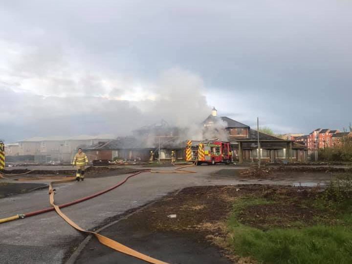 Former Baffito's on fire Pic: Cassie Cartmell
