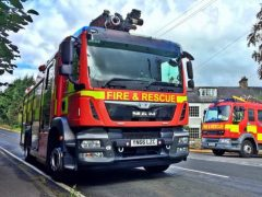 Fire engine Pic: Lancashire Fire and Rescue Service