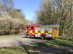 A fire engine responding to deliberate park fires Pic: Preston Fire Station