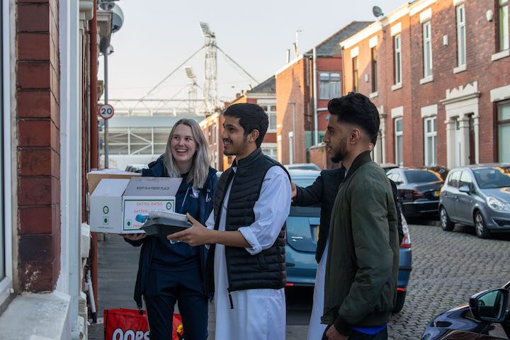 Doorstep deliveries were given to those fasting Pic: Ian Robinson / Preston North End