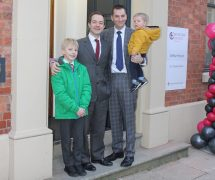 Richard Freye with son Arthur and Chris Musgrove with son Harry