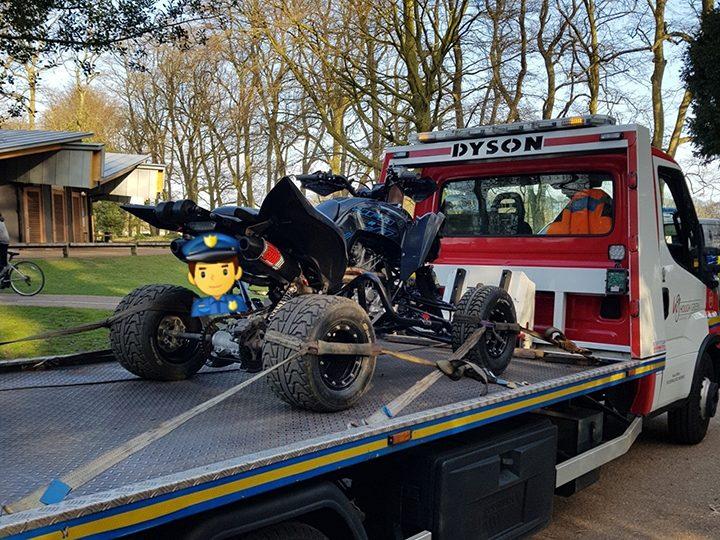 Seized quad bike Pic: Preston Police