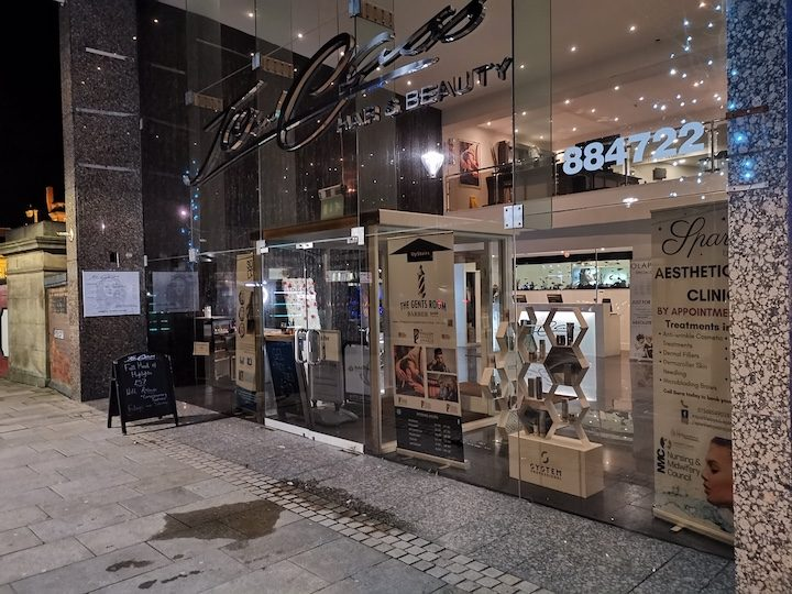The Gents Room Barbershop is located on the first floor of Jo & Cass