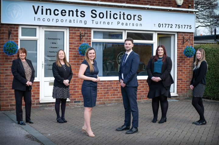 The new team at Vincents' Penwortham office