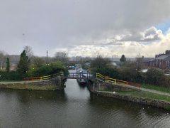 Snow over Lancaster Canal, Ashton. Pic: Blog Preston