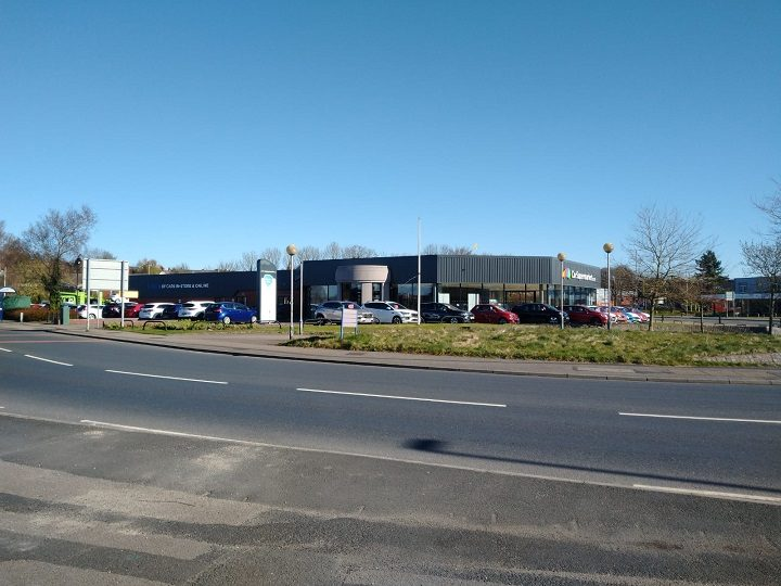 The land is currently home to the Car Supermarket showroom Pic: Blog Preston