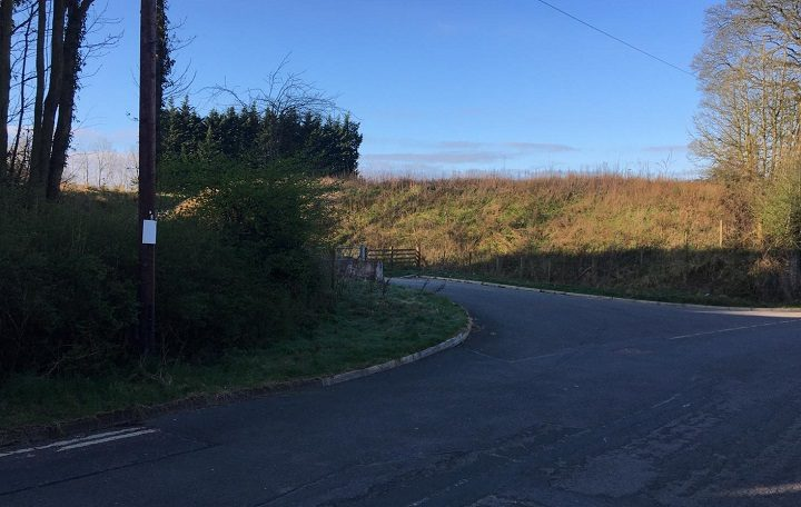 Entrance to land off D'urton Lane in Broughton earmarked for a proposed new mosque Pic: Blog Preston