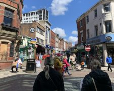 A busy looking Friargate and Orchard Street as restrictions eased on April 12 Pic: Blog Preston