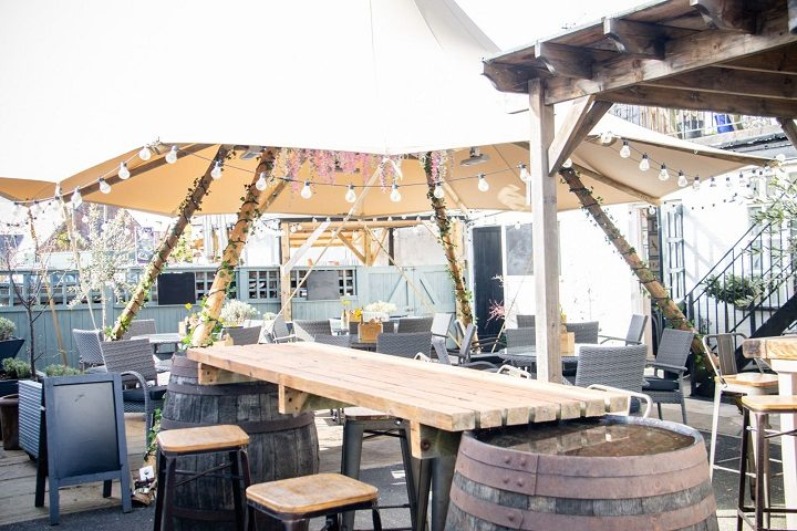 The new teepee at the Golden Ball in Longton