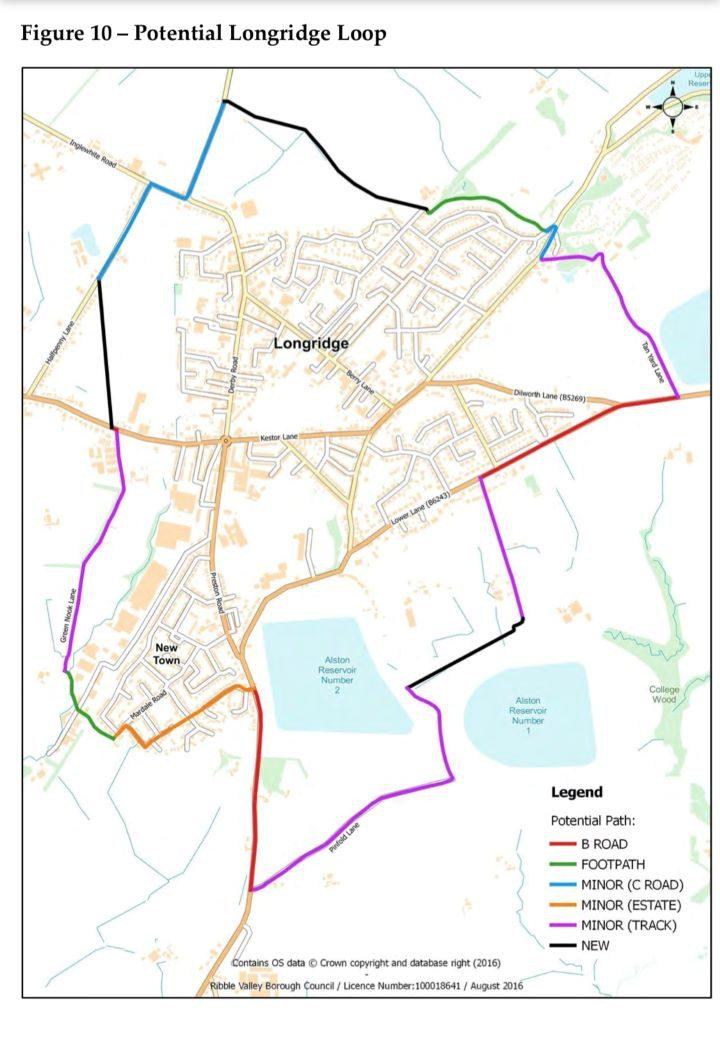Longridge Loop. Pic: Longridge Town Council plans.