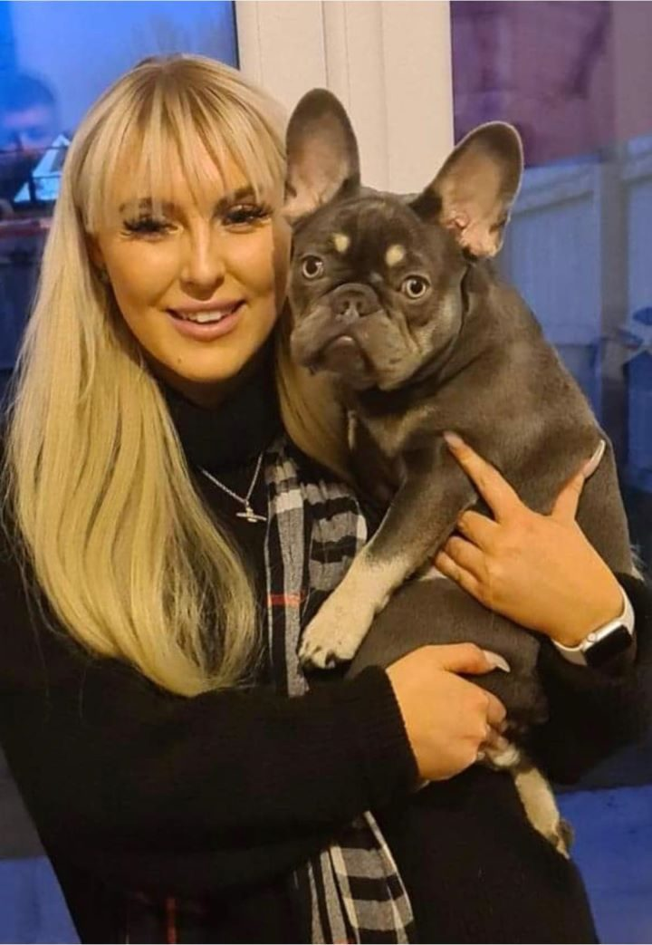 Nelly the French Bulldog and her owner Ellie